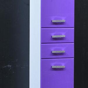 Пенал 'Марта-35' 2дв. 2ящ. (Фиолетовый) 350х1900х350