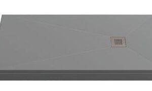 Поддон ESSENTIA мрамор 120х80 ГРАФИТ (без автослива) ЛП00059