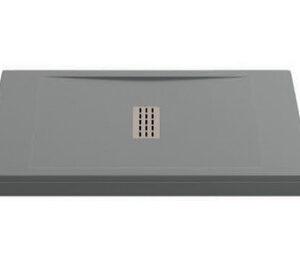 Поддон FLOW мрамор 120х80 ГРАФИТ (без автослива) ЛП00062