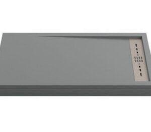 Поддон STELLA мрамор 100х80 ГРАФИТ (без автослива) ЛП00134