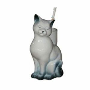 Подставка под ёрш (+ ершик) 'Кошка' белая