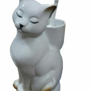 Подставка под ёрш (+ ершик) 'Кошка' рыжая