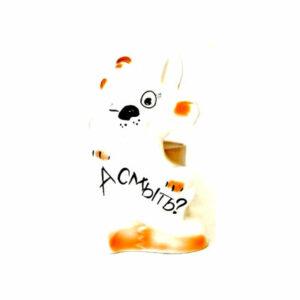 Подставка под ёрш (+ ершик) 'Кот-хулиган' рыжий