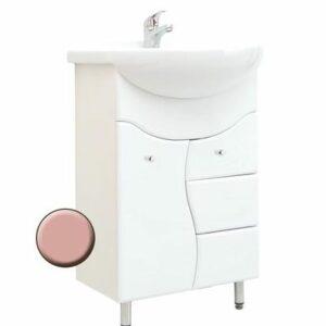 Подстолье 'Ева' (розовый) 3 ящика 1 дверь под умыв. 'ЭРИКА-55'487х800х303