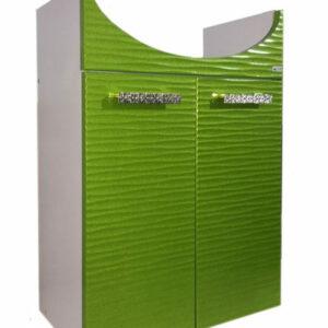 Подстолье 'FIESTA-55' волна 3D 2 двери под умыв. 'Эрика-55' (олива мет.) 487*800*302