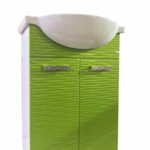 Подстолье 'FIESTA-55' волна 3D 2 двери под умыв. 'Nati-55' (олива мет.) 508*800*299