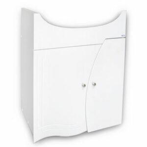 Подстолье 'Камея 60' (белый) 2 двери под умыв. 'Cersania-60' 560х850х335