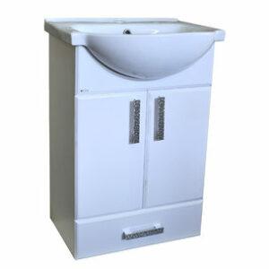 Подстолье 'Марта-50' 2 двери 1 ящик (белый) под умыв. 'Nati-50' 465х800х300