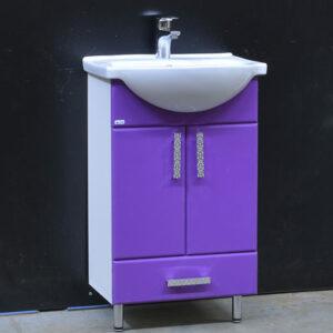 Подстолье 'Марта-50' 2 двери 1 ящик (Фиолетовый) под умыв. 'Nati-50' 465х800х300