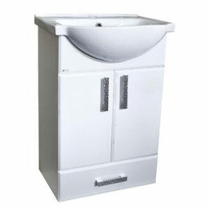 Подстолье 'Марта-55' 2 двери 1 ящик (белый) под умыв. 'Nati-55' 508х800х300