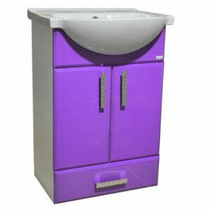 Подстолье 'Марта-55' 2 двери 1 ящик (Фиолетовый) под умыв. 'Nati-55' 508х800х300