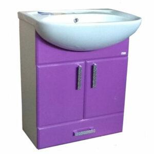 Подстолье 'Марта-60' 2 двери 1 ящик (Фиолетовый) под умыв. 'Эрика-61' 577х800х283