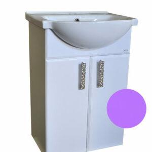 Подстолье 'Марта-60' 2 двери (Фиолетовый) под умыв. 'Эрика-61' 577х800х283