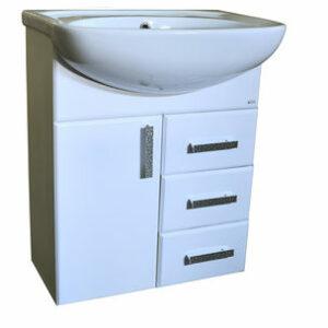 Подстолье 'Марта-60' 3 ящика 1 дверь (белый) под умыв. 'Эрика-61' 577х800х283