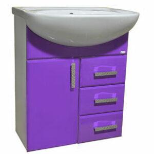 Подстолье 'Марта-60' 3 ящика 1 дверь (Фиолетовый) под умыв. 'Эрика-61' 577х800х283