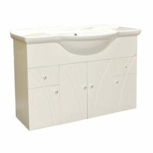 Подстолье 'Сонет-105'(белый) 2 ящика 4 двери под умыв.'Дрея 105'1010х800х340