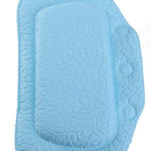 Подушка для ванны с присосками ПВХ 'Спа' 25х37см голубой (6907)