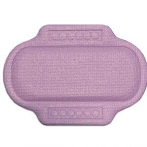 Подушка для ванны с присосками ПВХ 'Спа' 25х37см сиреневый/фиолетовый (6907)