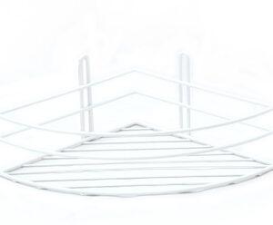 Полка угловая 1 ярус, овал, высокая 4894-1 СТК (белая) РОССИЯ