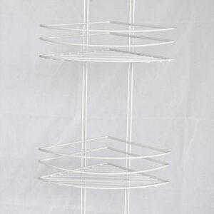 Полка угловая 4 яруса, овал, высокая 4894-4 СТК (белая) РОССИЯ