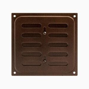 Решетка вентиляционная с заслонкой 160*160 медь
