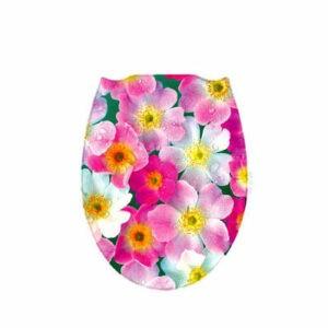 Сиденье д/унитаза пластик ФОТОПРИНТ Цветы (146)