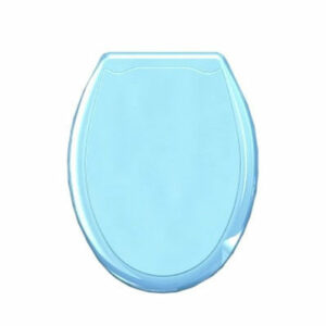 Сиденье д/унитаза пластик голубой
