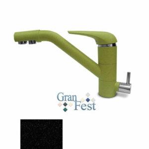 Смеситель Кухня GRANFEST d=40 с краном пить.воды (2624) (308-черный)