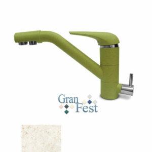 Смеситель Кухня GRANFEST d=40 с краном пить.воды (2624) (328-бежевый)