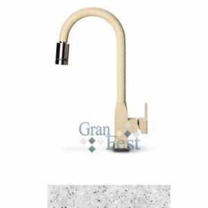 Смеситель Кухня GRANFEST d=40 Выдвижная лейка (3673) (310-серый)
