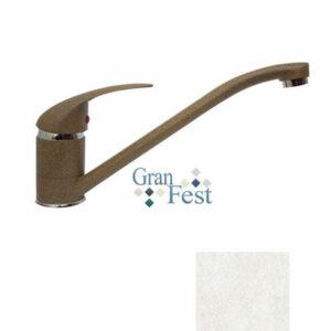 Смеситель Кухня GRANFEST ЭКО-М d=40 (3322) (белый)