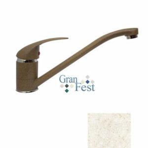 Смеситель Кухня GRANFEST ЭКО-М d=40 (3322) (бежевый)