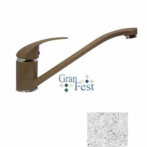 Смеситель Кухня GRANFEST ЭКО-М d=40 (3322) (серый)