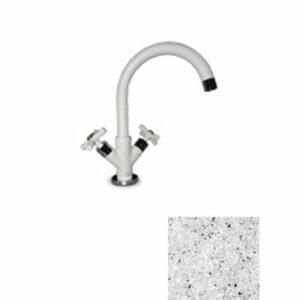 Смеситель Кухня GRANFEST РЕТРО низкий излив, керамика (310-серый) (5822200)