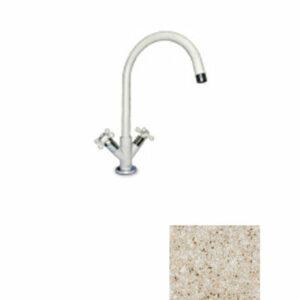 Смеситель Кухня GRANFEST РЕТРО высокий излив, керамика (302-песочный) (5822200)
