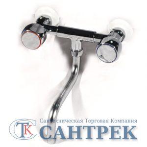 Смеситель Кухня Иркутск 1/2 м/к пл. мах. Луна (К-17) СТЕНА