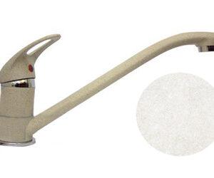 Смеситель Кухня QUARZ GRANFEST d=35 (белый) (Z3321)