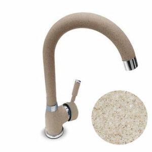 Смеситель Кухня QUARZ GRANFEST d=35 боковой U - образный (Z3424) Песок