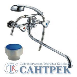 Смеситель Ванна 1/2 м/к (литой) ПСМ-156-К/77 пластик