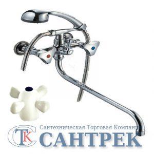 Смеситель Ванна 1/2 м/к (литой) ПСМ-156-К/99 пластик