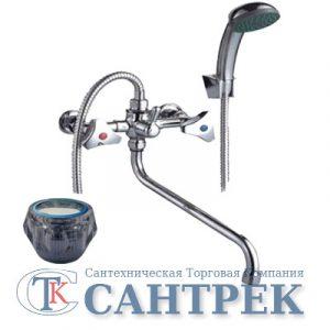 Смеситель Ванна 1/2 м/к (сборный) ПСМ-150-К/65 Стекло