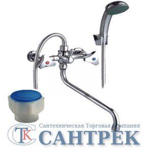 Смеситель Ванна 1/2 м/к (сборный) ПСМ-150-К/77 пластик