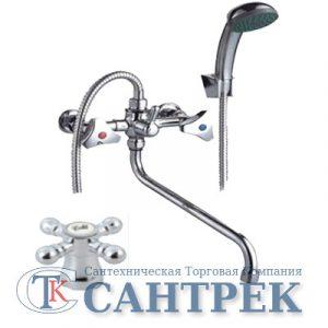 Смеситель Ванна 1/2 м/к (сборный) ПСМ-150-К/89 Крест