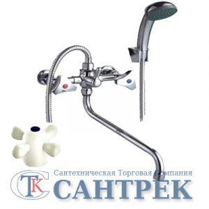 Смеситель Ванна 1/2 м/к (сборный) ПСМ-150-К/99 пластик