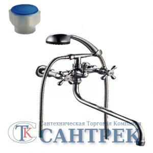 Смеситель Ванна 1/2 м/к (сборный) шар. перекл. ПСМ-165-К/77 пластик