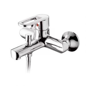 Смеситель ванна Raiber R1402 Pikus, шар. d35мм, кор. нос, лейка 3 режима