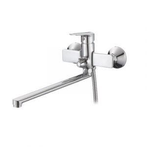 Смеситель ванна Raiber R1504 Zinger, шар. d35мм, длин. нос, лейка 3 режима