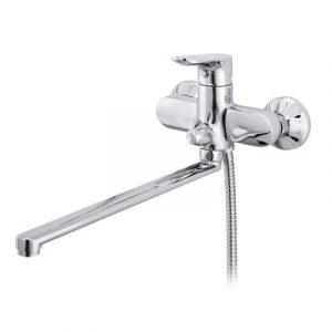 Смеситель ванна Raiber R5002 Primo, шар. d35мм, длин. нос, лейка 3 режима