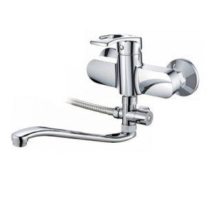 Смеситель ванна Raiber R9602 Draygott, шар. d35мм, длин. нос, лейка 3 режима