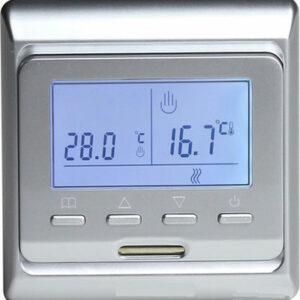 Терморегулятор для теплого пола E 51.716 СЕРЕБРО